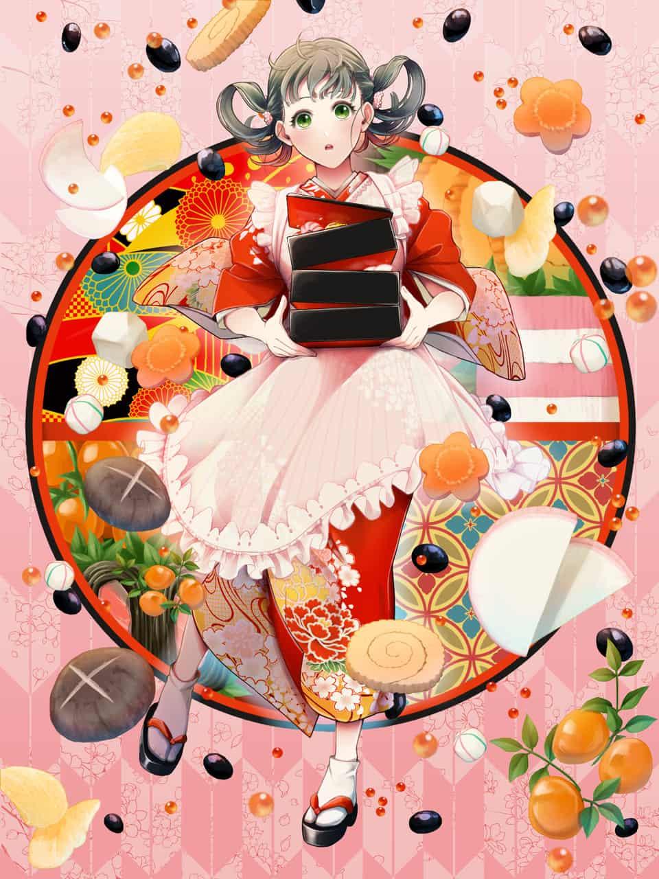 謹賀新年 Illust of akamori Jan.2020Contest 正月 おせち