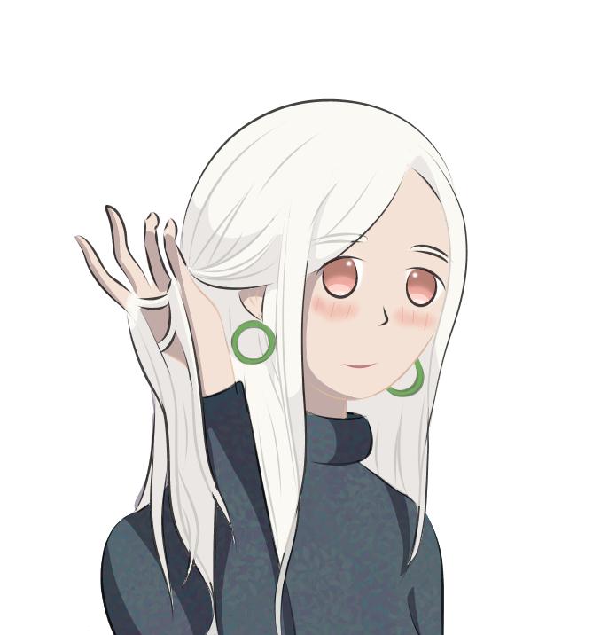 Illust of Rl🍜 medibangpaint Halloween white_hair white illustration oc anime
