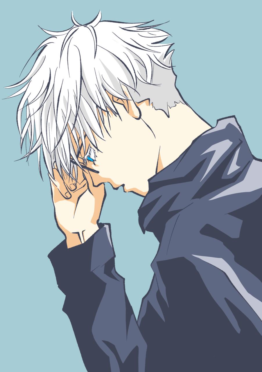 横顔 Illust of como フリー線画 fanart SatoruGojō JujutsuKaisen