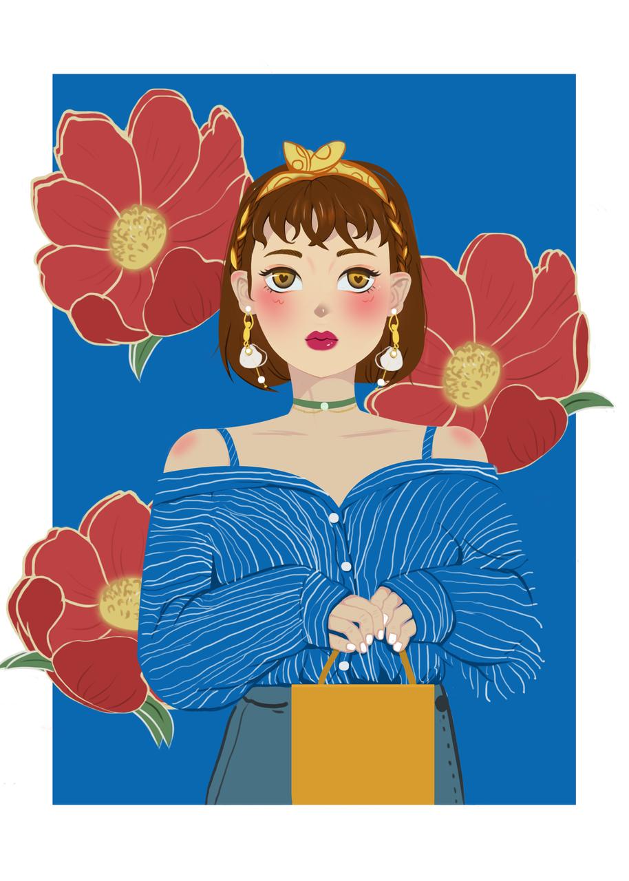 虞美人 Illust of 怪小孩 April2021_Flower