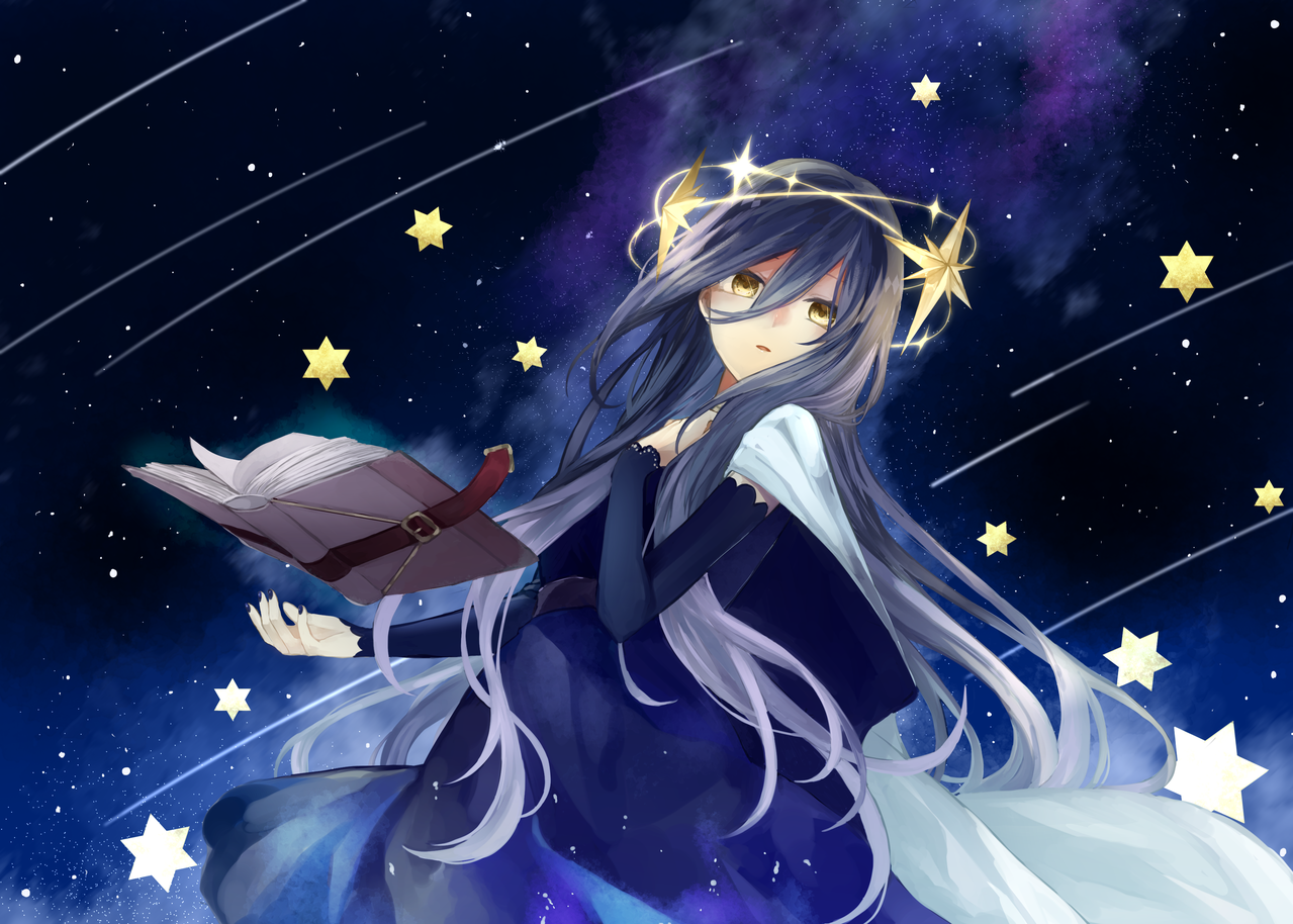 星見 Illust of 白夜零月 original girl starry_sky