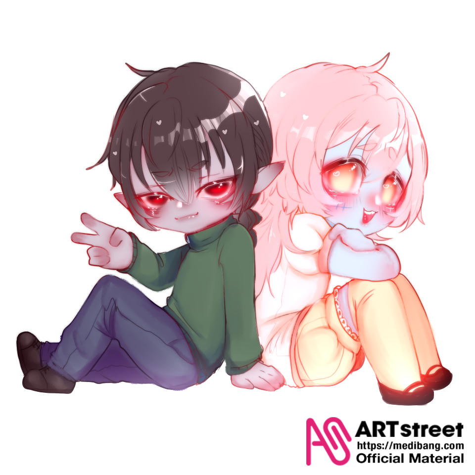 look at these bffs >:3 Illust of GhostKiwi tracedrawing2 Trace&Draw【Official】