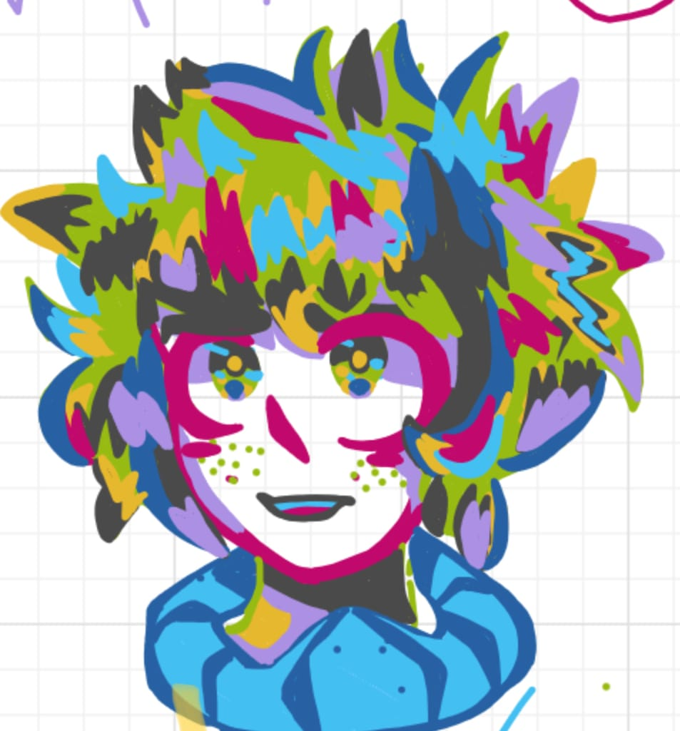 Drew this on my chrome book in school :') Illust of Max. MyHeroAcademia Izuku_Midoriya