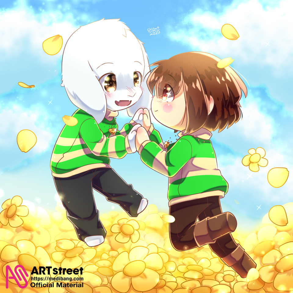 Your Best Friend [Trace&Draw2] Illust of chlOwOan tracedrawing2 flowers contest Trace&Draw【Official】 Chara undertale Dreemurr