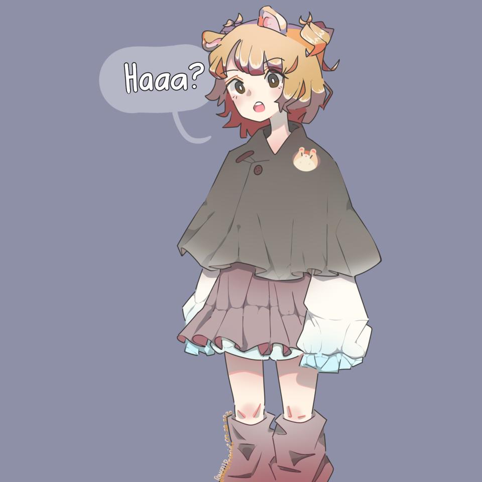 Hamster-chan 🐹 Illust of Prarie September2020_Contest:Furry girl Hamster