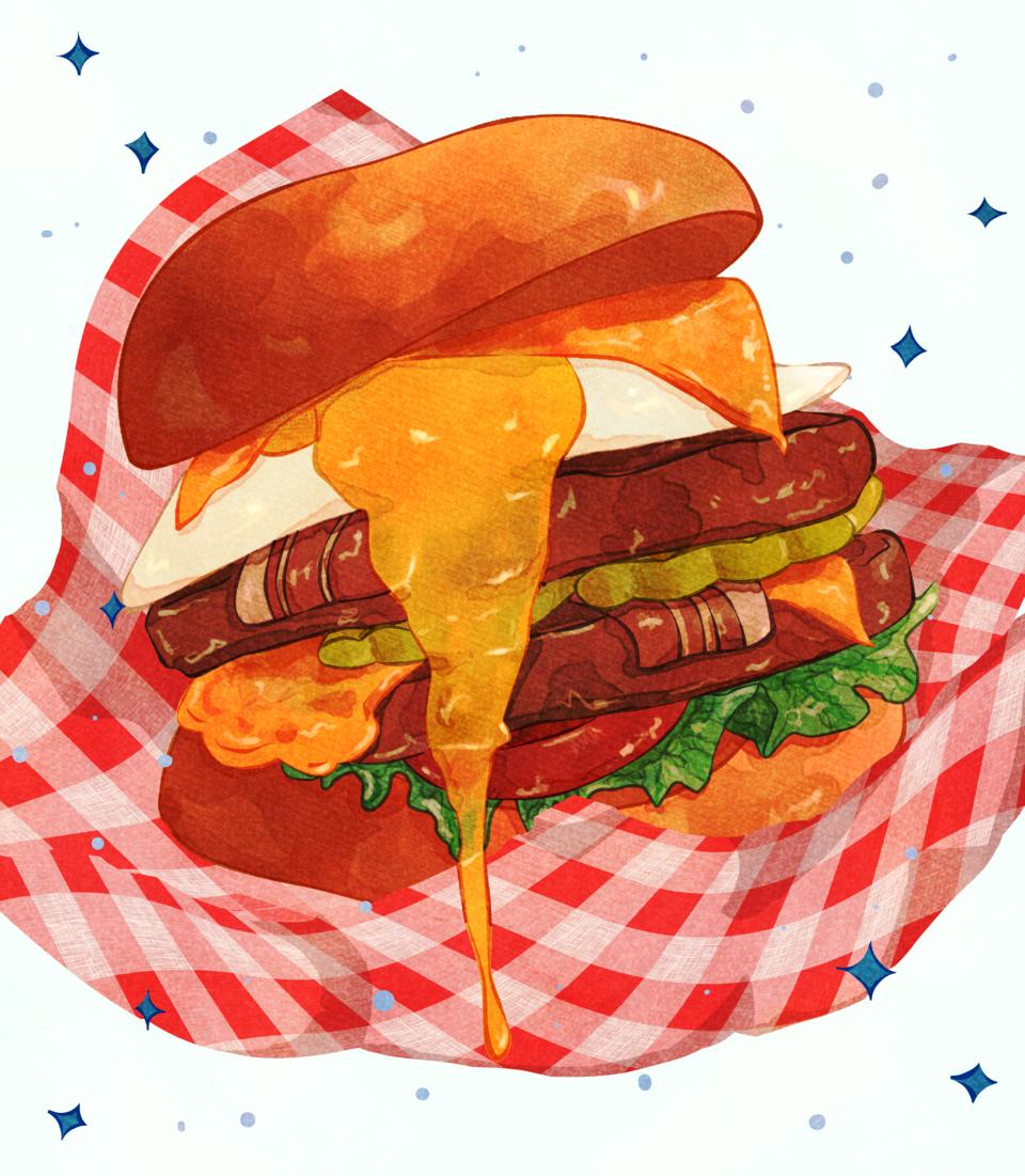 Hamburger! Illust of Apey.art October2020_Contest:Food food
