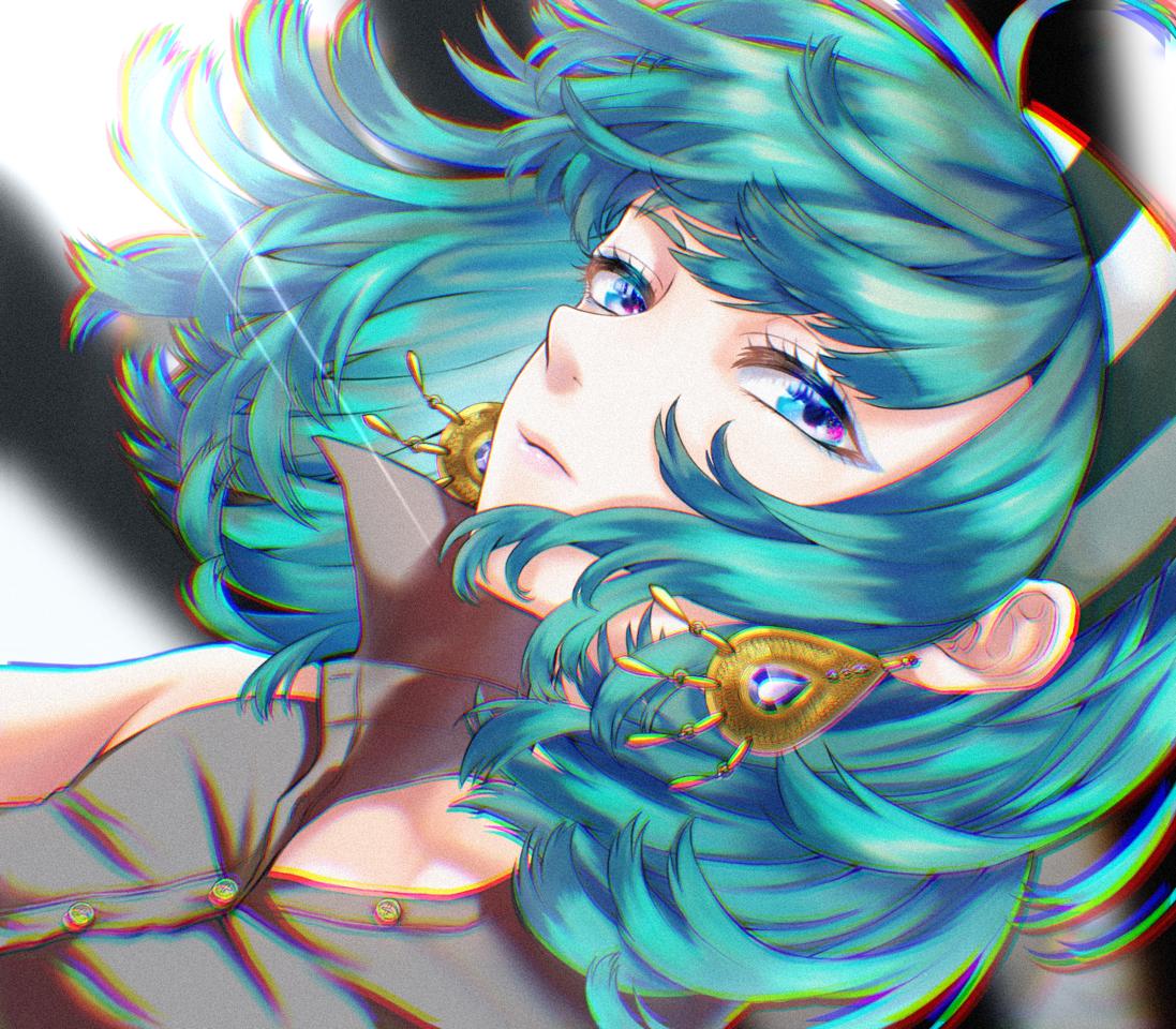 翠 Illust of ぬふふ green girl piercing original