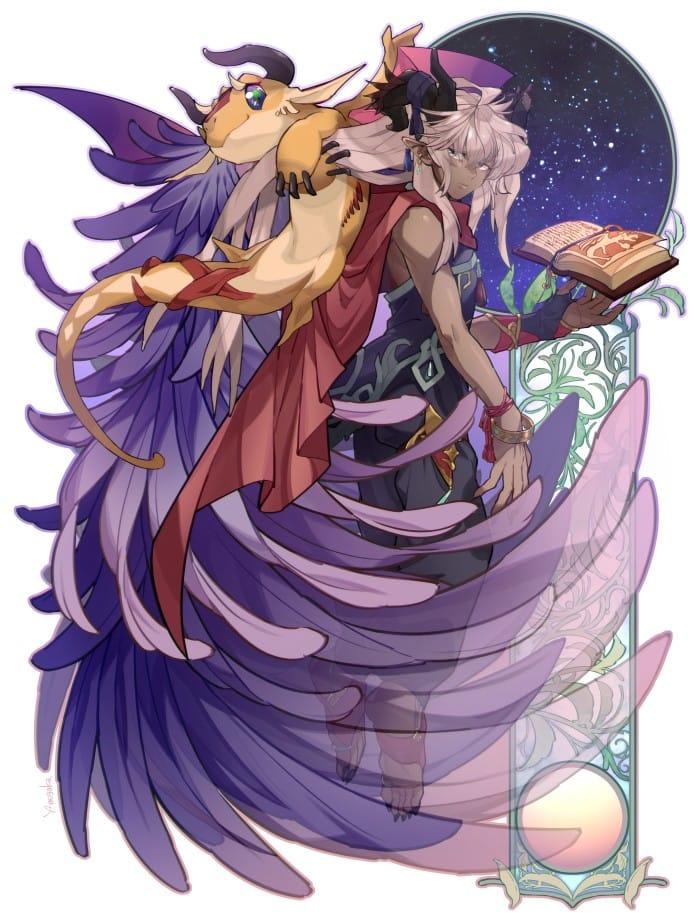 怠惰と退化 Illust of 芽ヶ可ゆい February2021_Fantasy original