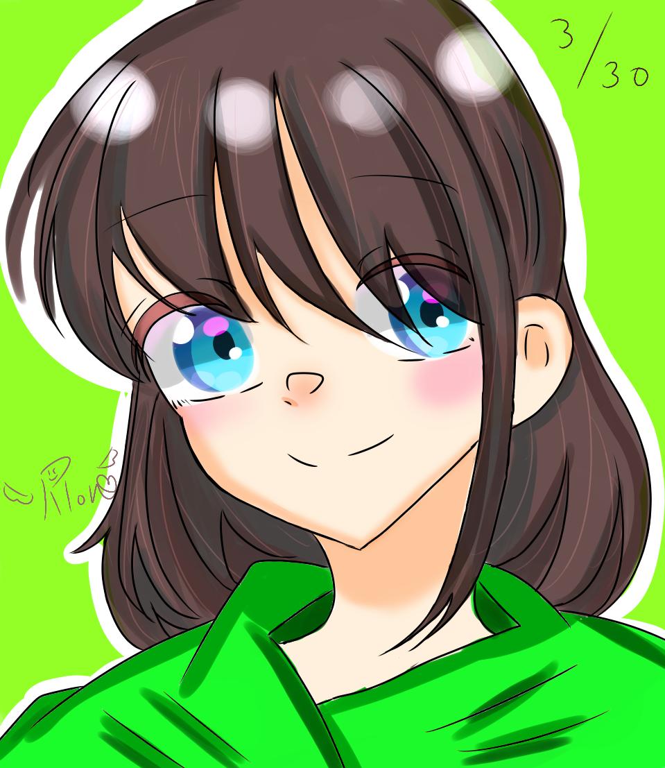 でじたる。 Illust of 夜桜涼音 hoodie girl original digital