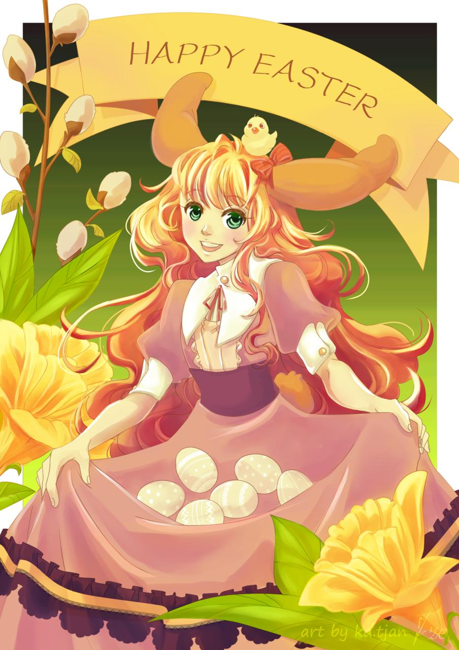 Easter bunny Illust of ka.tjan ARTstreet_Ranking March.2020Contest:Easter medibangpaint CLIPSTUDIOPAINT easterbunny Easter kawaiigirl manga Egg spring
