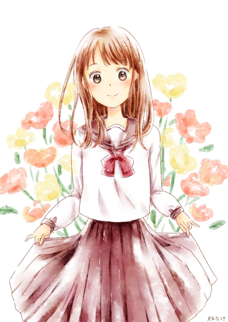 はじめましてのお嬢さん Illust of 月名なつき original 高校生 sailor_uniform girl