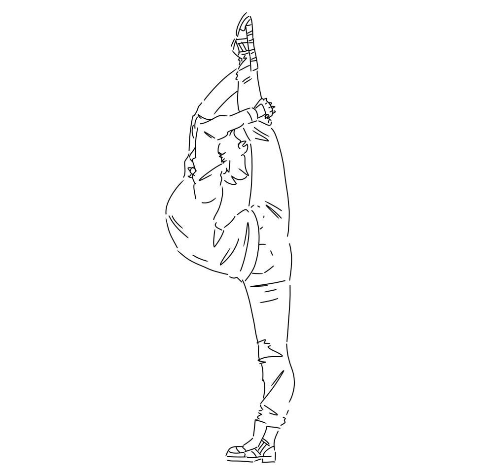 HA- (Bad anatomy-) Illust of Black Void medibangpaint