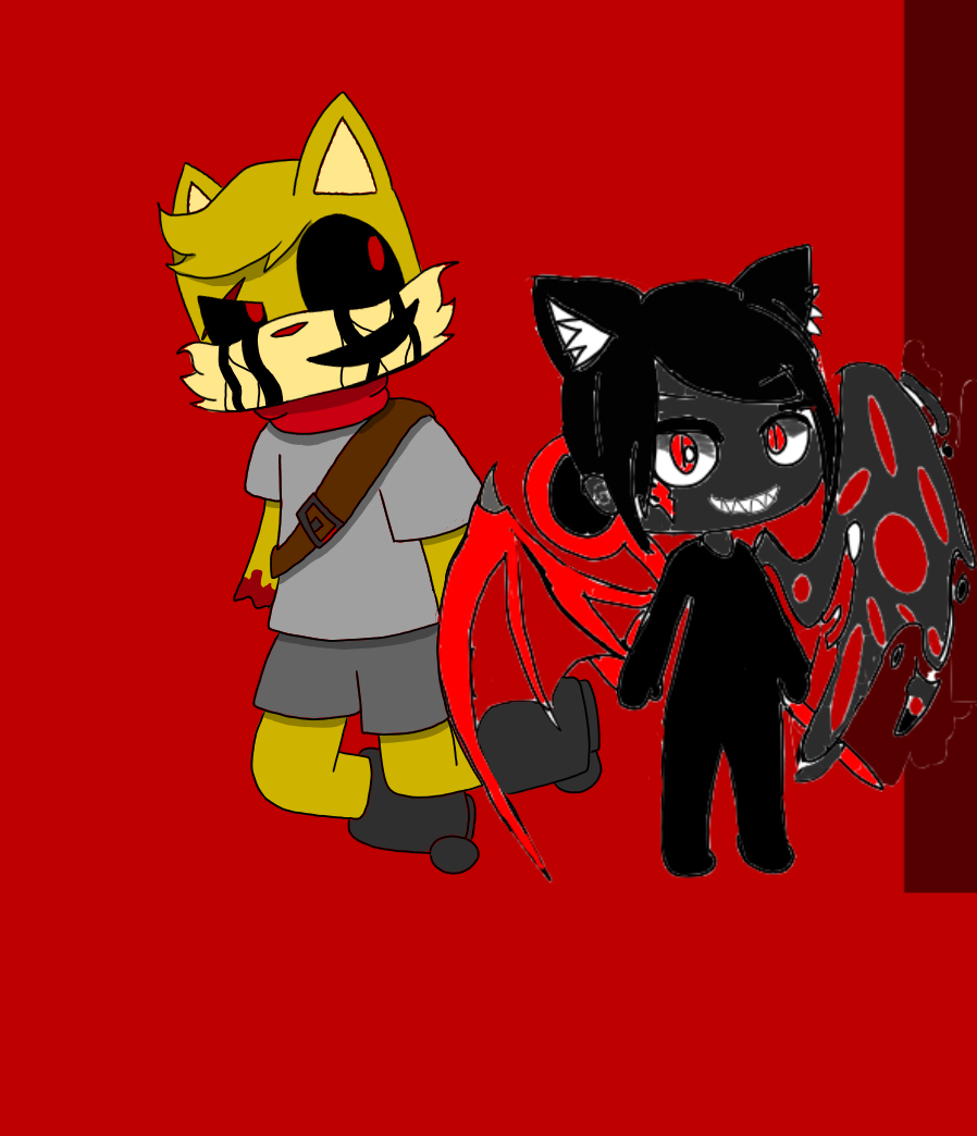 collab with Wolfe mara gacha Illust of Gaming Doge oldOc medibangpaint Wolfemaragacha collab