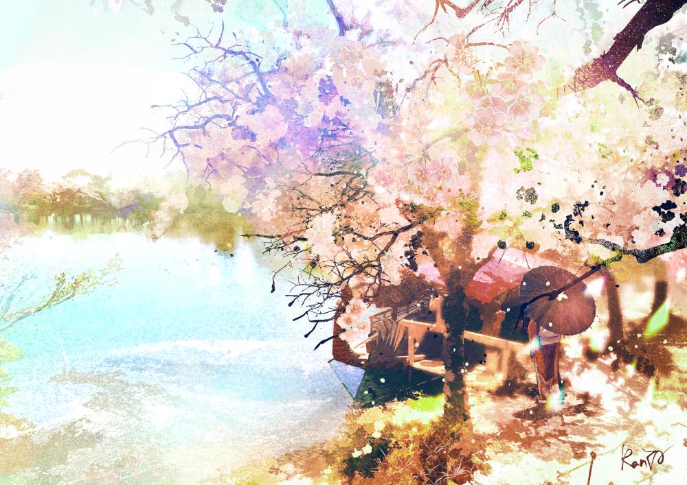 大覺寺櫻 Illust of RanYA Kyoto_Award2021[illustration] sakura
