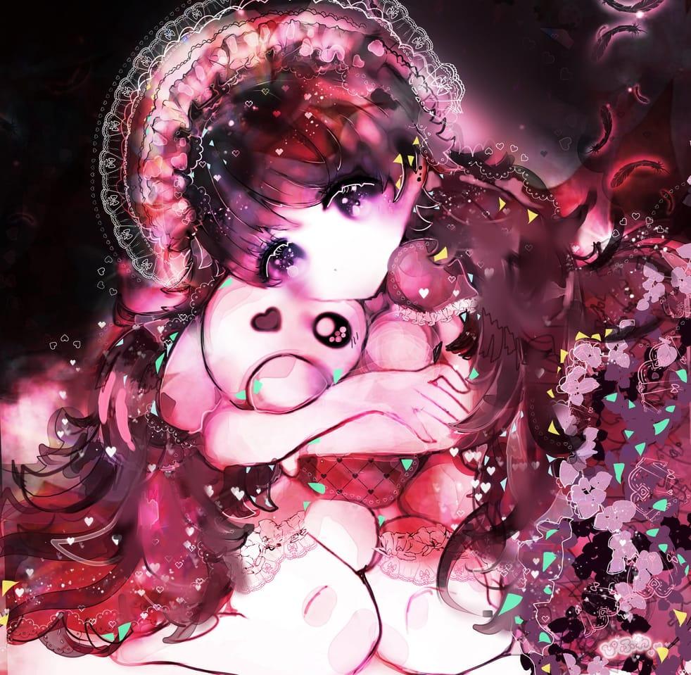 ぎゅっとだきしめて Illust of ぴふわ original girl 病みかわいい oc ゴスロリ ゆめかわいい