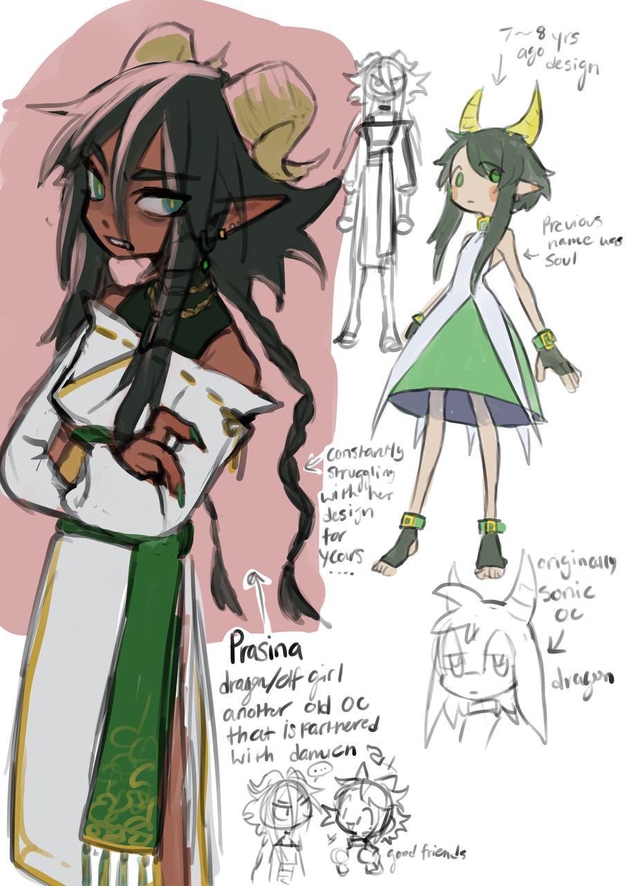 Prasina sketches Illust of mangohCake medibangpaint dragon oc anime