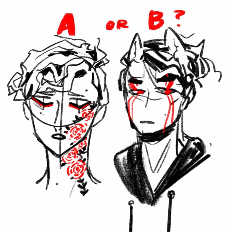 Need opinion! Illust of poki.han dtiys sketch PokiHan Speedpaint