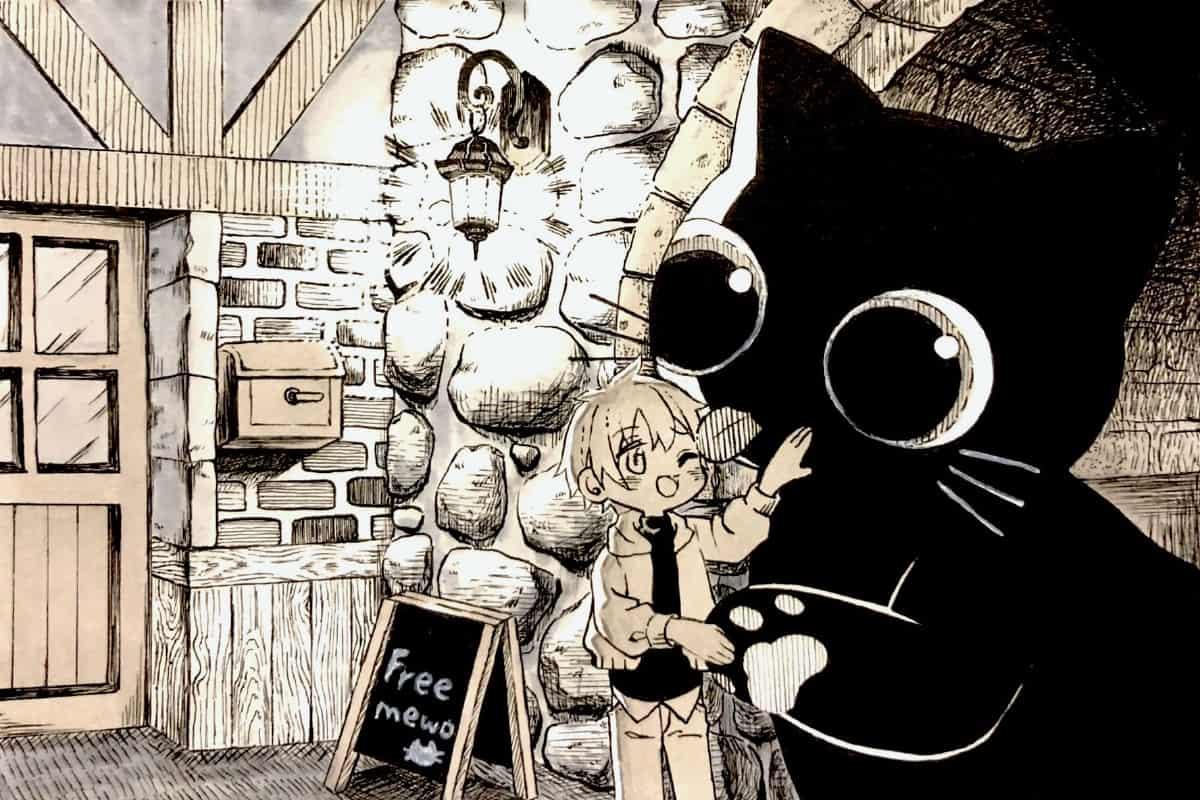 疲れた貴方におっきなモフモフ Illust of 三兎雛 アナログ ペン画 つけペン Copic cat original