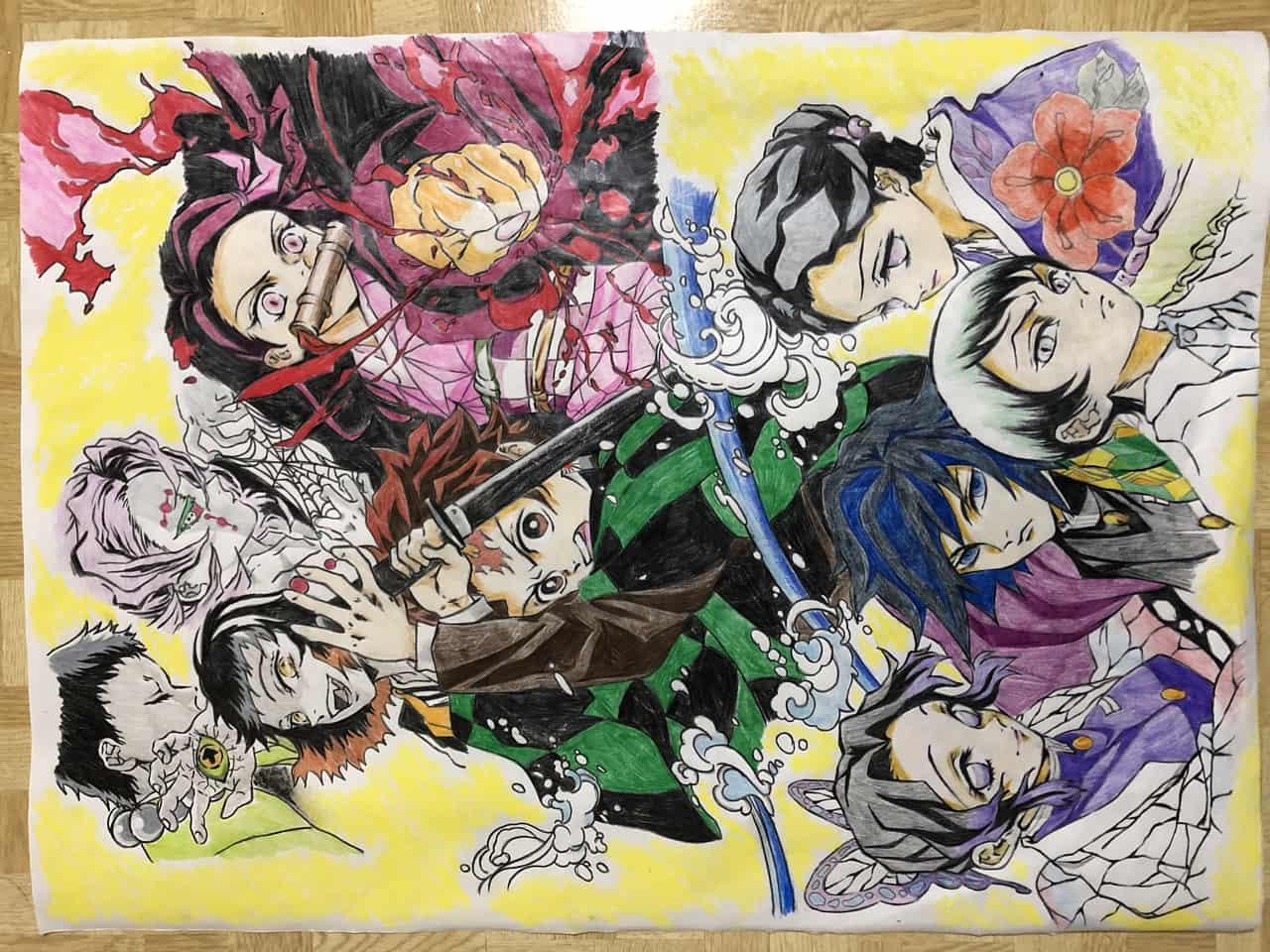 鬼滅の刃(色鉛筆画) Illust of しーちゃん DemonSlayerFanartContest KamadoNezuko 累 Yushiro TomiokaGiyuu KimetsunoYaiba Tamayo KamadoTanjirou