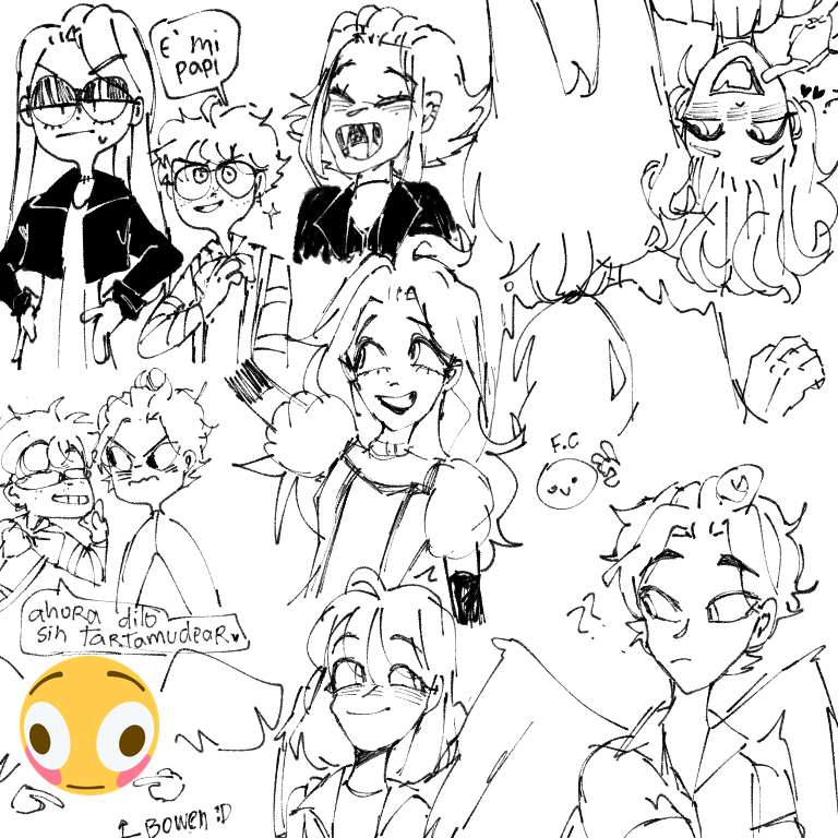 Cosos random 🤡🔫 Illust of 🍇 EVA 🍇 oc sketch random medibangpaint