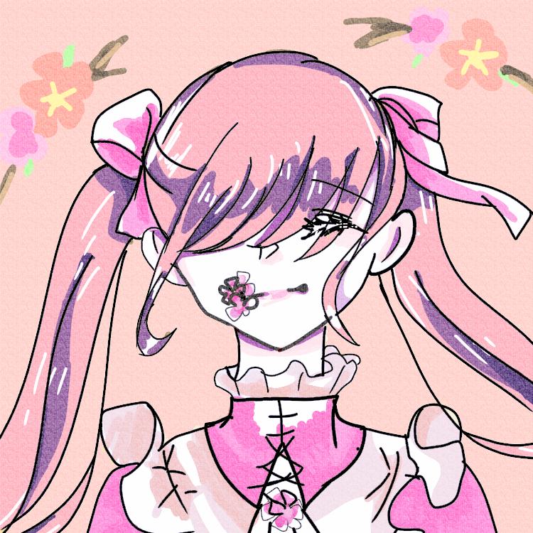 桃色 Illust of 残像。 フリーアイコン sakura 暖かい flower 桃色