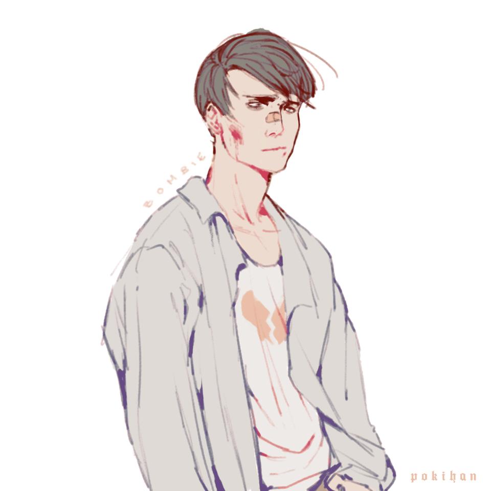 Z o m b i e  Illust of poki.han zombie drawing PokiHan anime