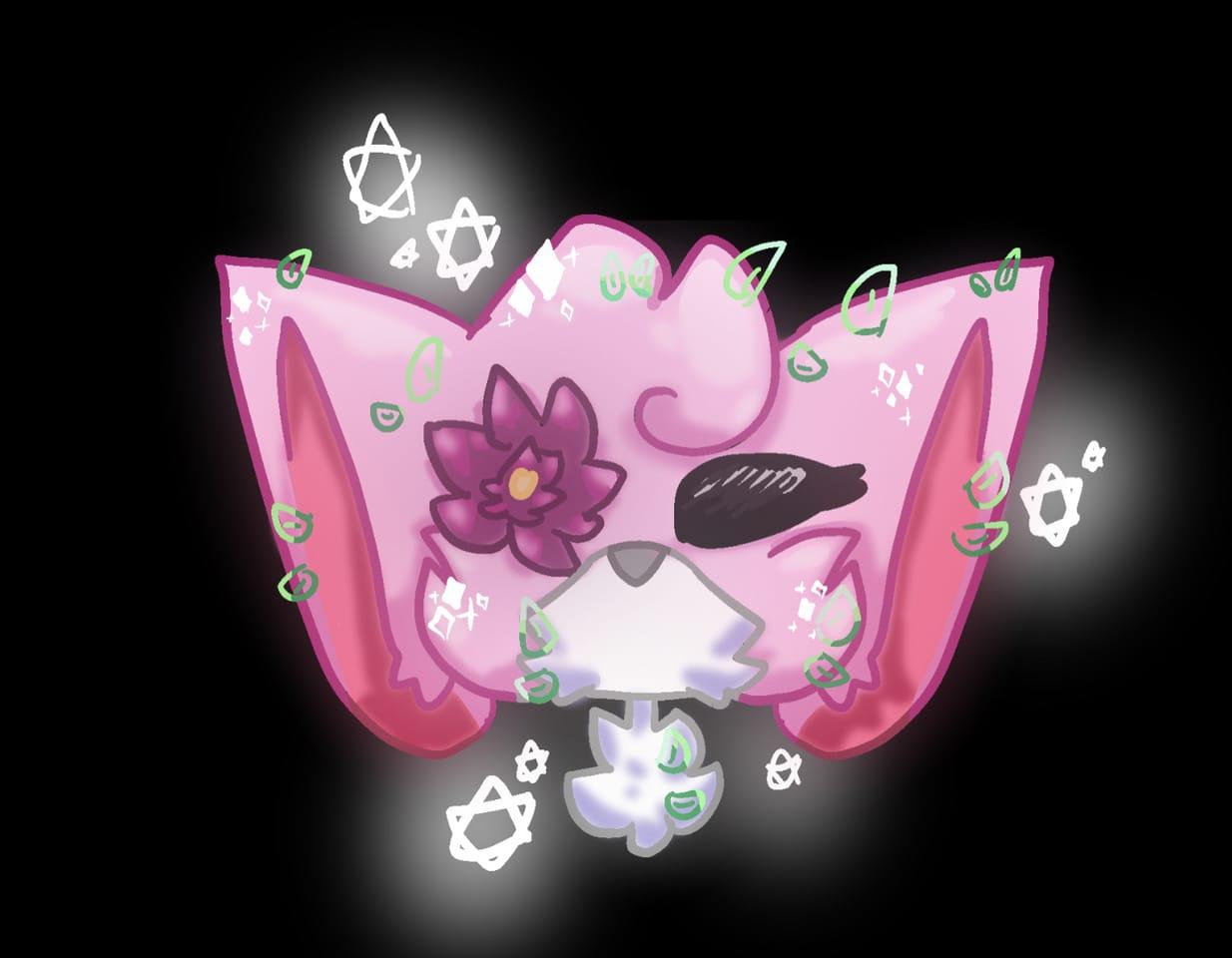 flower🌸 (read decs) Illust of cat on ø flower cat doodle
