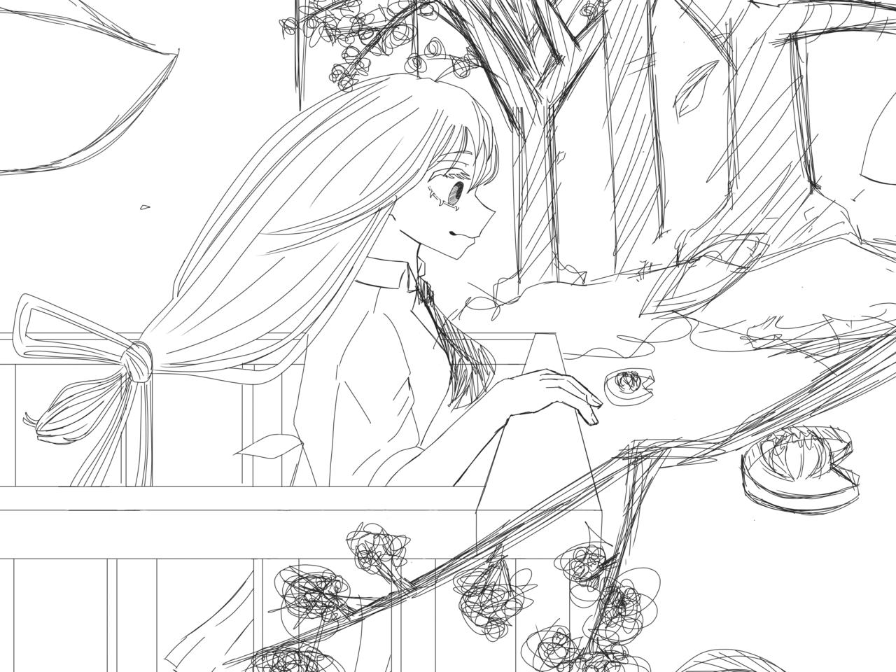 Request (rough sketch) Illust of Dekuchan_336(crazy mode?) digital anime Fingerpaint medibangpaint nwn Froppy roughsketch MyHeroAcademia