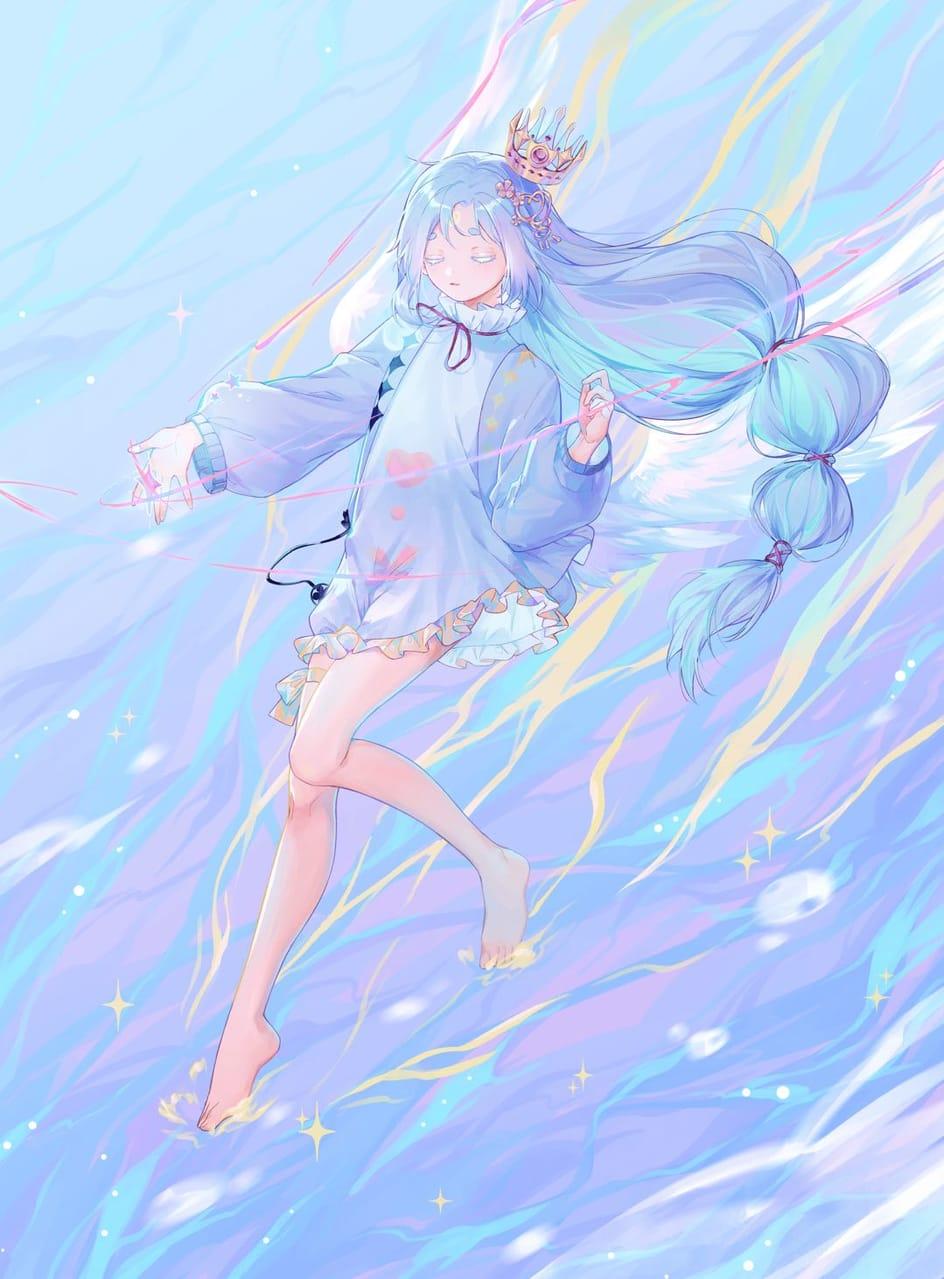 波与星 Illust of 小鳥遊青 illustration girl blue
