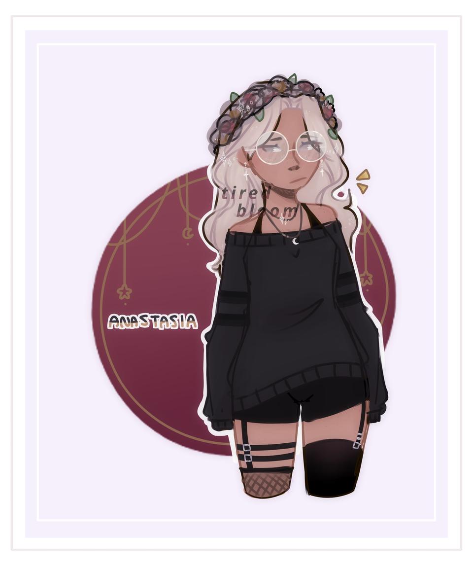 [OC doodle] Anastasia :o!