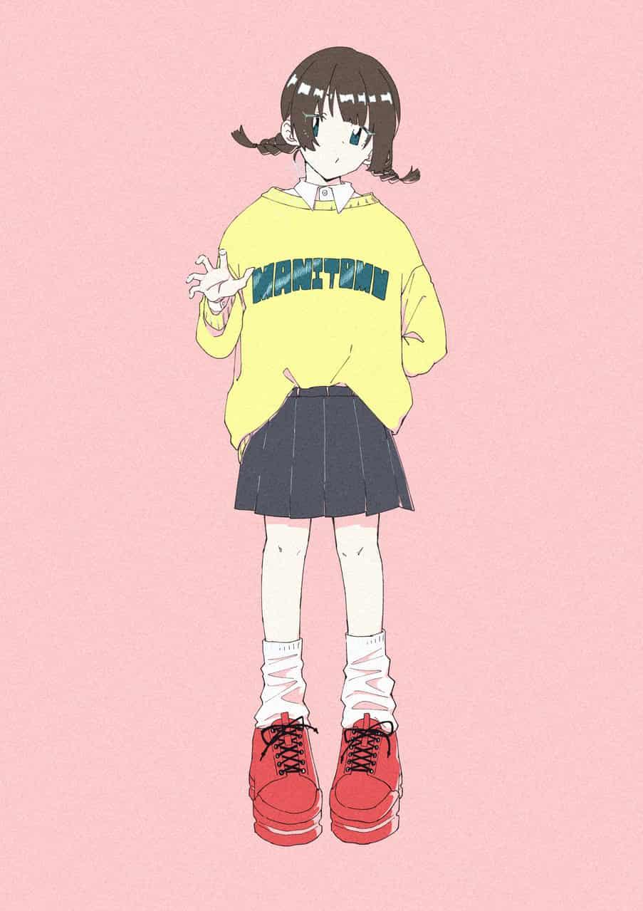 みつあみ Illust of まにとむ original girl illustration
