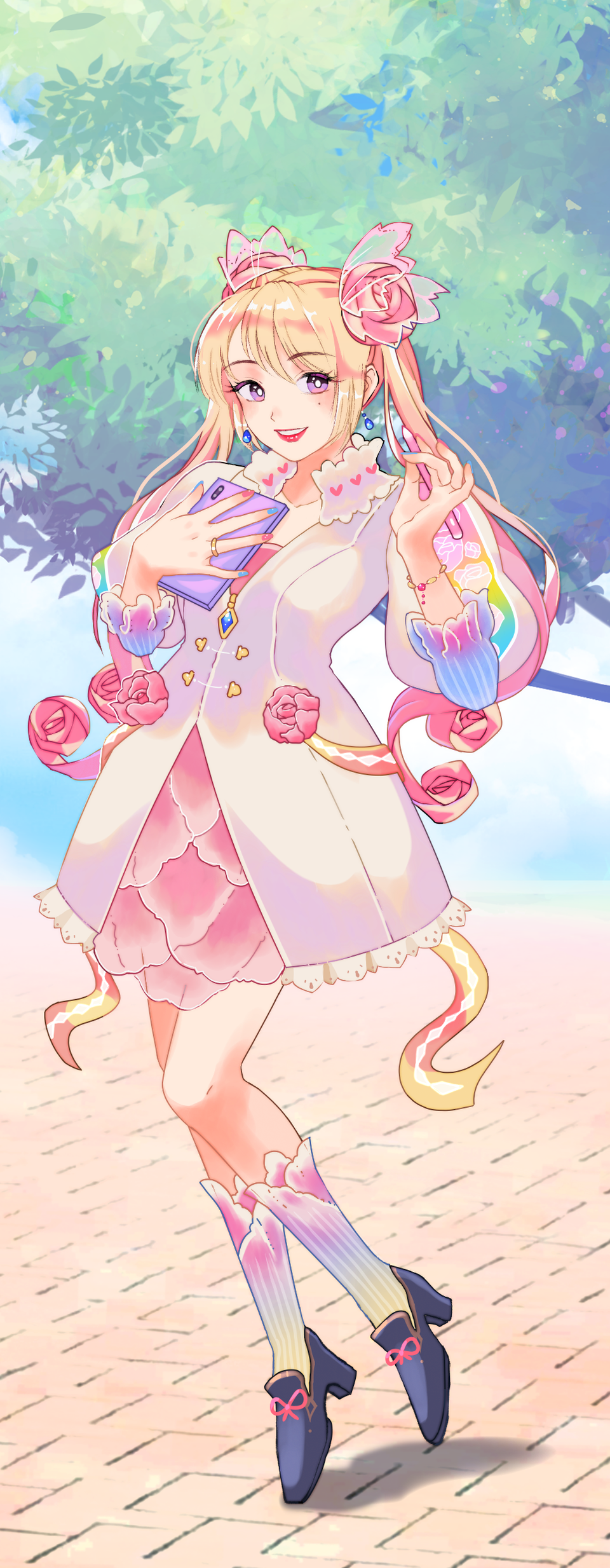Pastel Sketch: Pink Girl! Illust of yngtifa PASTEL_SKETCH2020 girl pink