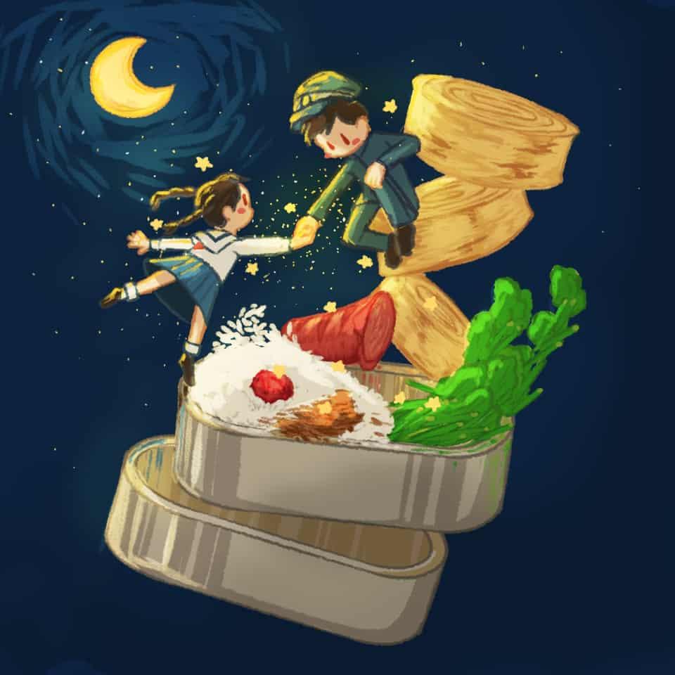 コクリコ坂からの弁当 Illust of xiin_ruu_ art fanfic 弁当 medibangpaint illustration コクリコ坂から food