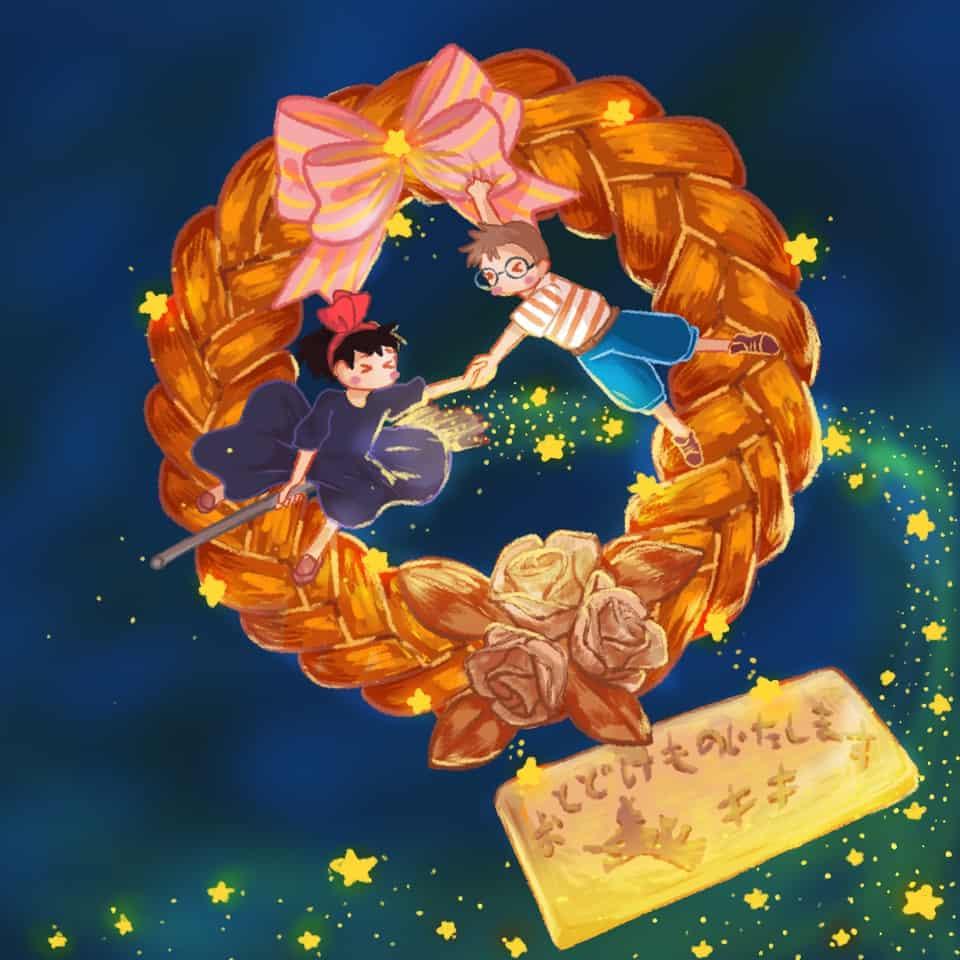 魔女の宅急便のパン Illust of xiin_ruu_ illustration fanfic ghibliredraw 魔女の宅急便 art パン food medibangpaint