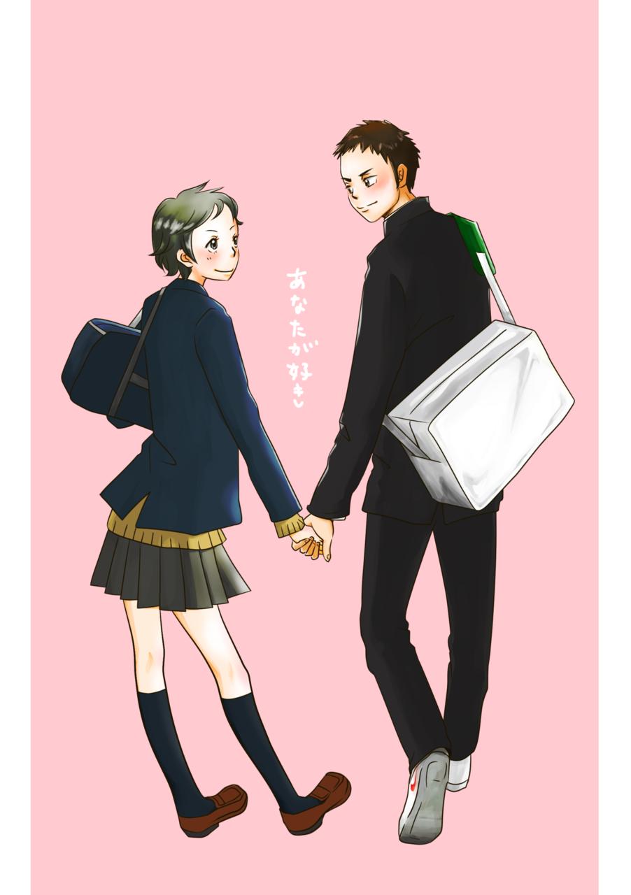 大地&結ちゃん Illust of como 道宮結 DaichiSawamura Haikyu!!