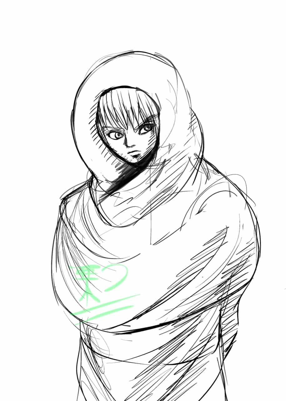 Sketch Illust of 栗つ🌰 digital sketch jumppaint oc art Medibang