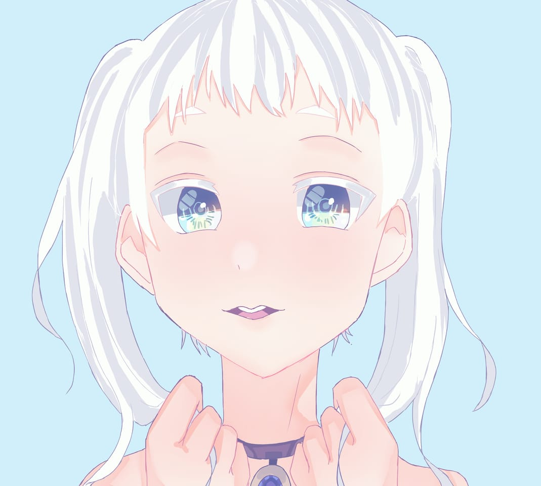 えんちゃんへ Illust of おみそ#田舎同盟 CLIPSTUDIOPAINT angel white_hair illustration girl 巌えん kawaii