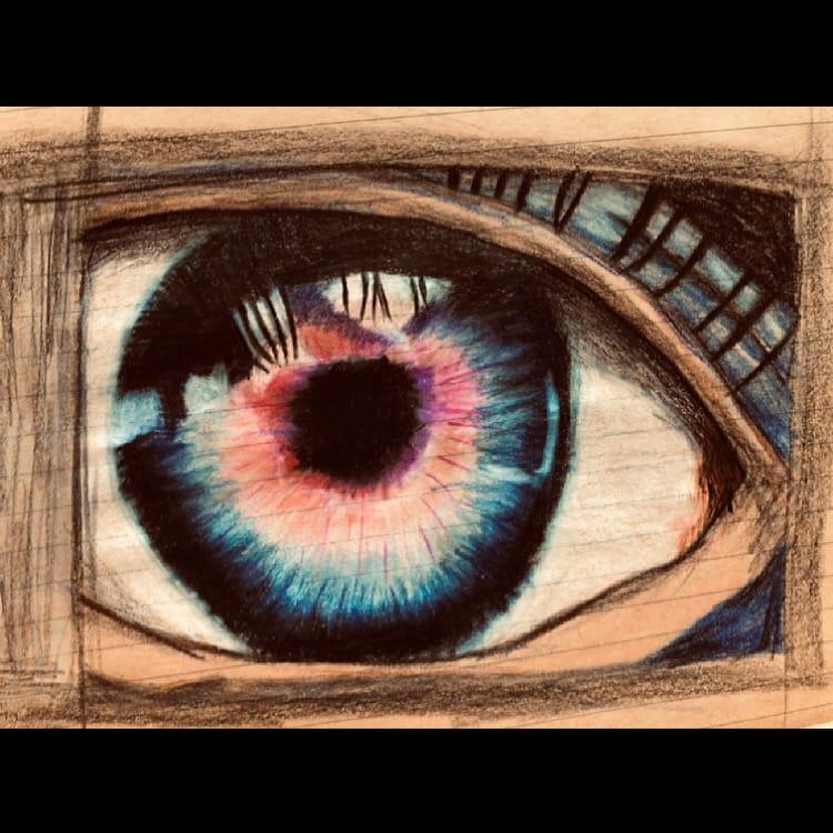 怪物の目 Illust of けんせい#アナログ同盟 March2021_Creature eyes illustration アナログお絵描き 目イラスト monster