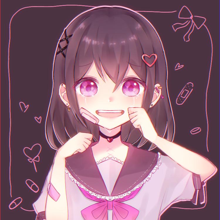 心の傷 Illust of イチミル cute メンヘラ よくわからん sailor_uniform 病み girl フリー tears