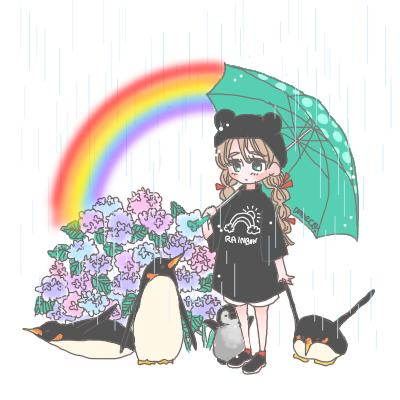TSUYU Illust of ameco medibangpaint girl Penguin original