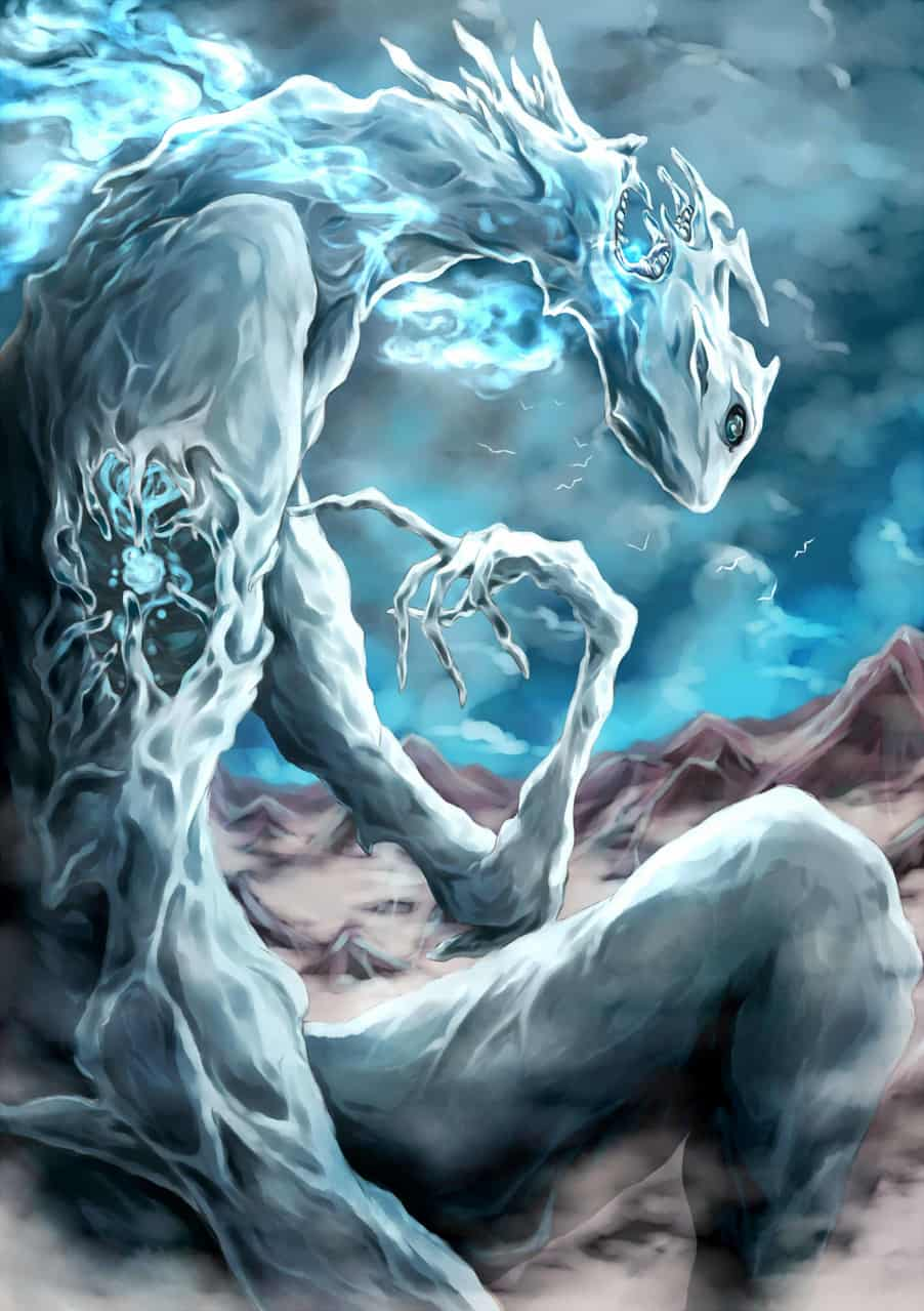 御霊地空結ビ賜ウ Illust of オニコロシ/生き方/帰り路 怪 sky 大地 ghost 巨