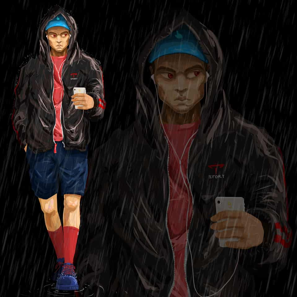 rain Illust of ggday January2021_Contest:OC illustration painting medibangpaint drawing rain