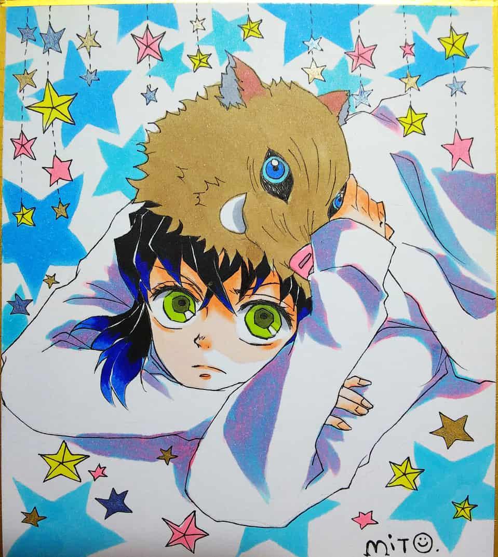 星の降る夜に Illust of ミト DemonSlayerFanartContest HashibiraInosuke Copic KimetsunoYaiba 鬼滅の刃イラストコンテスト