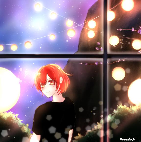 Night sky 🌌✨ Illust of Candyjl sky iPad_raffle girl oc medibangpaint illustration summer red night anime