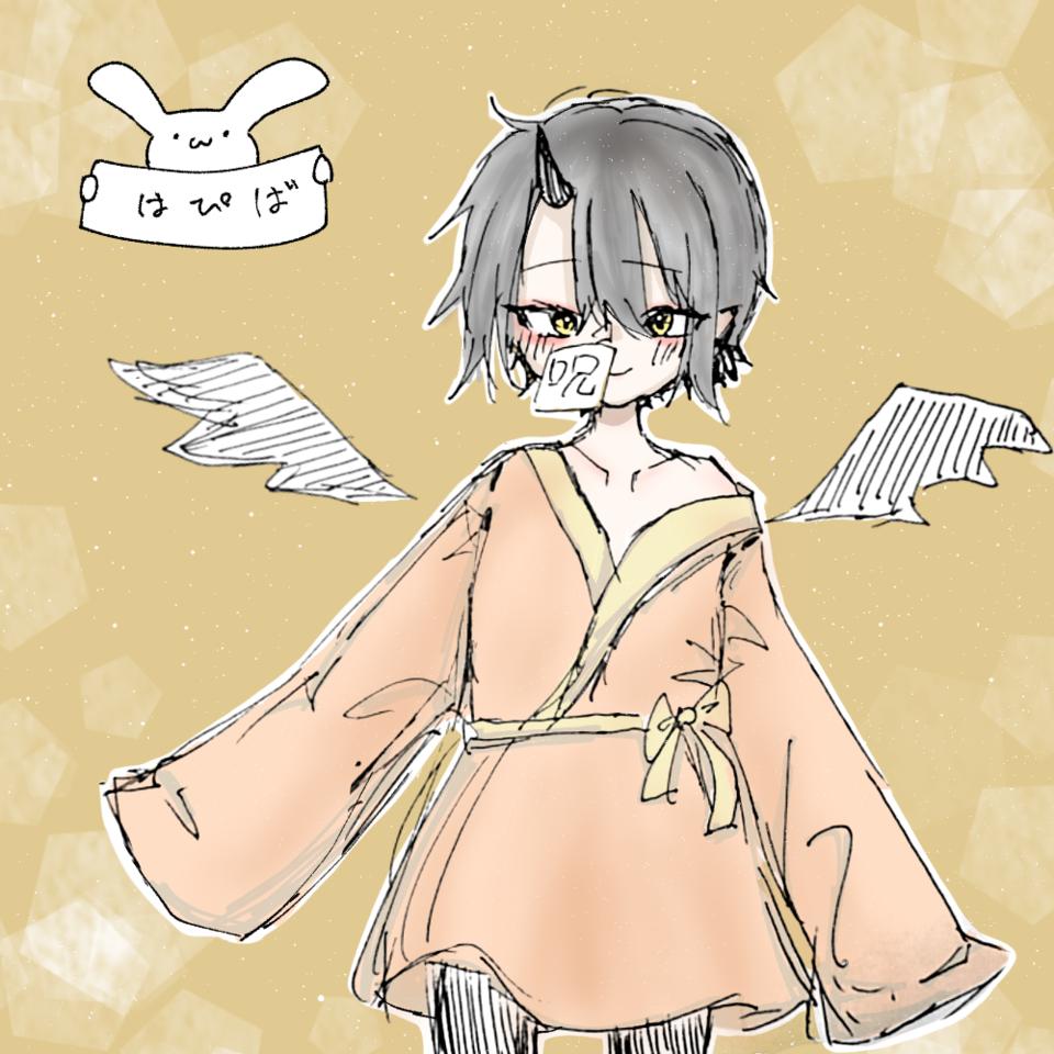 𓂃𓈒𓏸𝙷𝚊𝚙𝚙𝚢 𝙱𝚒𝚛𝚝𝚑𝚍𝚊𝚢𓂃𓈒𓏸 Illust of ぷいい໒꒱@逝きてる digital アナログ ノゥ kawaii rabbit birthday