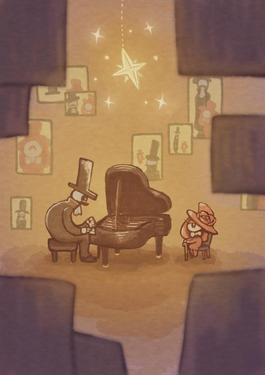 夫婦 Illust of キリコエコ piano 人外 異形頭 夫婦