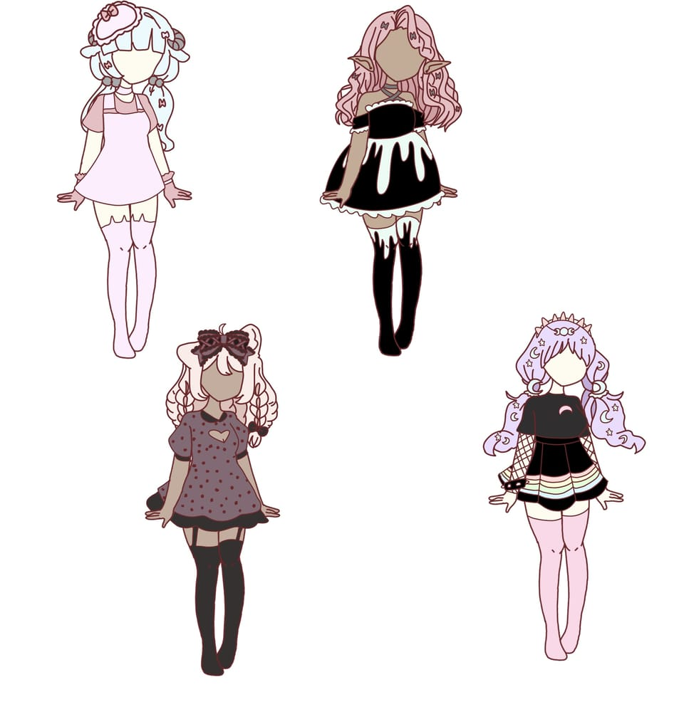 More adopts (read des) Illust of Dreamy_Bees DTA