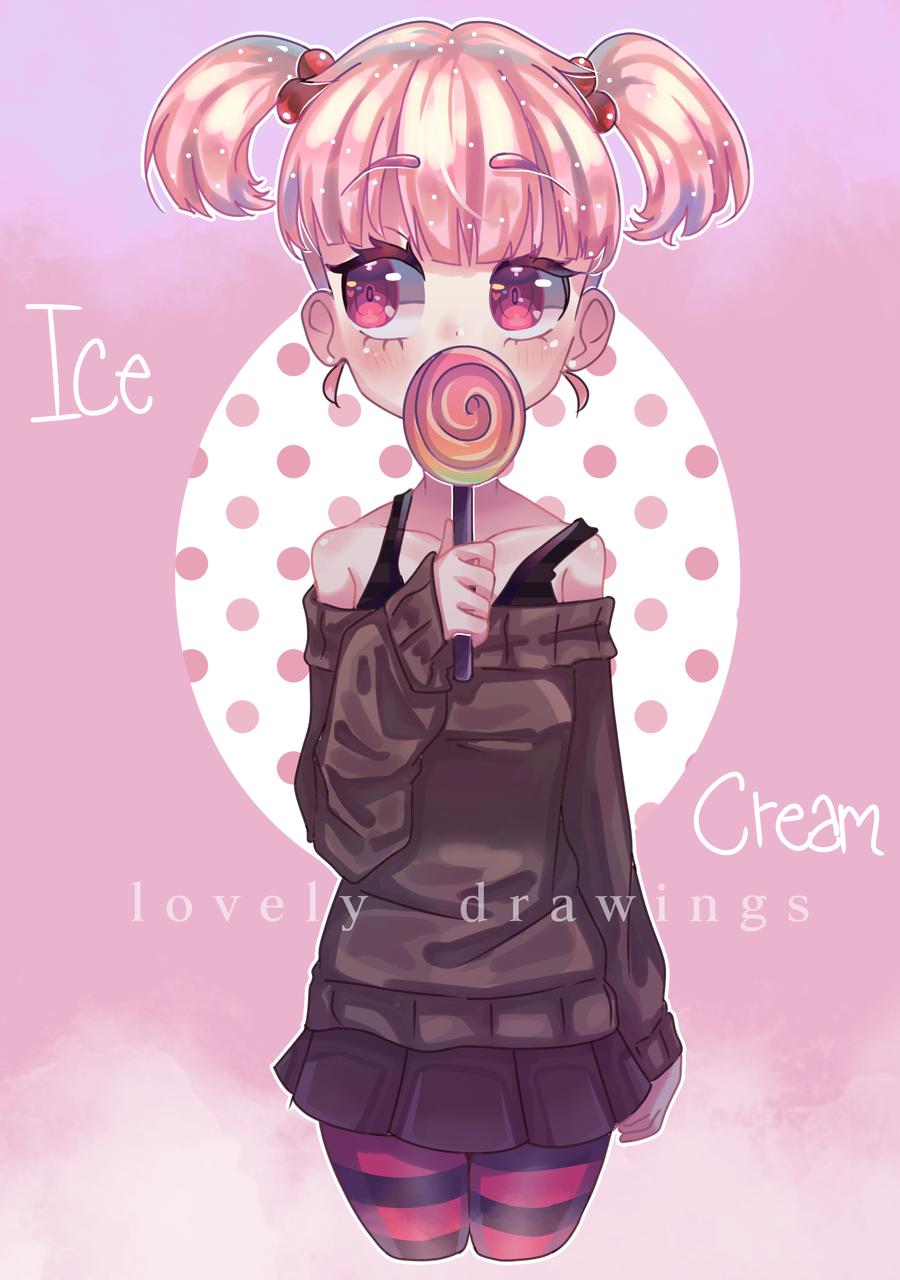 ice cream Illust of lovely drawings medibangpaint