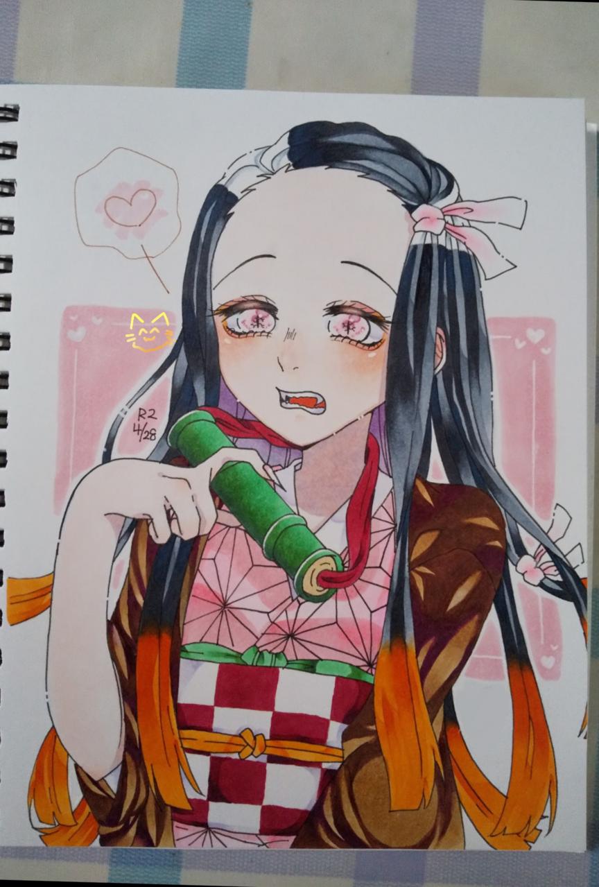 禰豆子ちゃん Illust of こんぶねこ✌🏻🍖@自己紹介必読 DemonSlayerFanartContest KamadoNezuko Copic KimetsunoYaiba