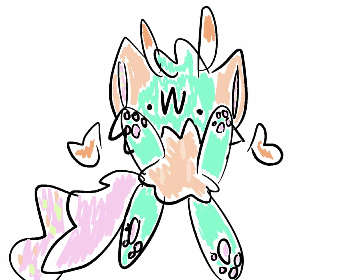 .w. Illust of cat on ø medibangpaint doodle cute
